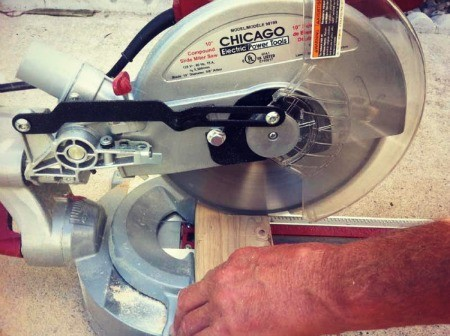 Electric blade of miter saw.