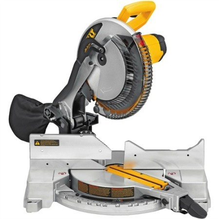 Portable dewalt miter saw.